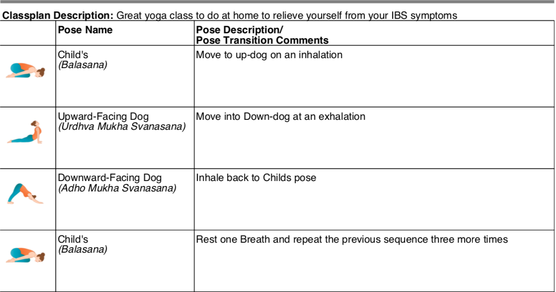 yoga sequence tool for ibs