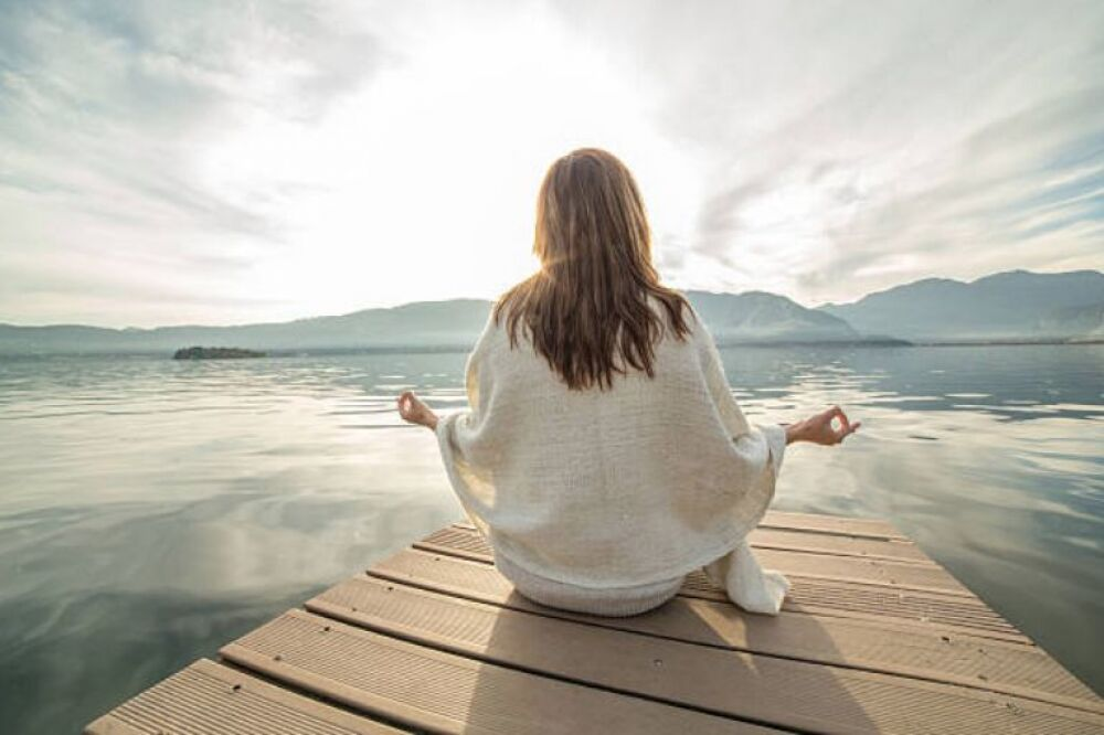 meditation at the lake retreat