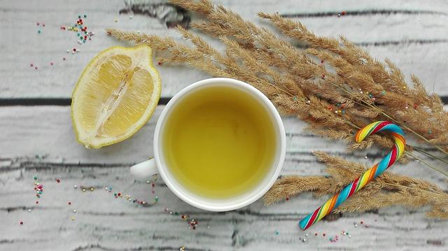 lemon tea with chia