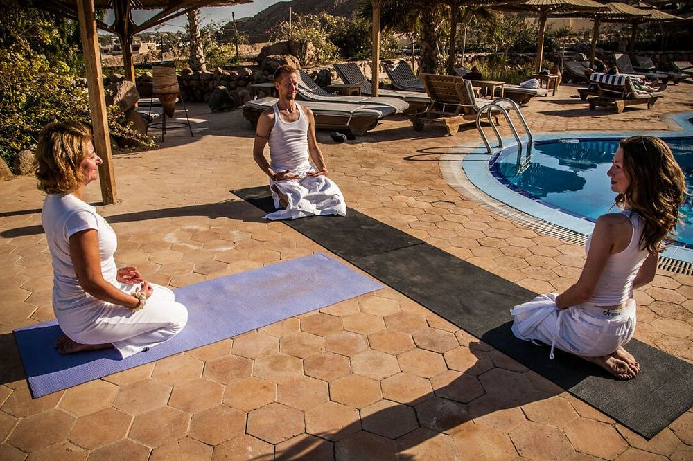 Christmas yoga in Egypt