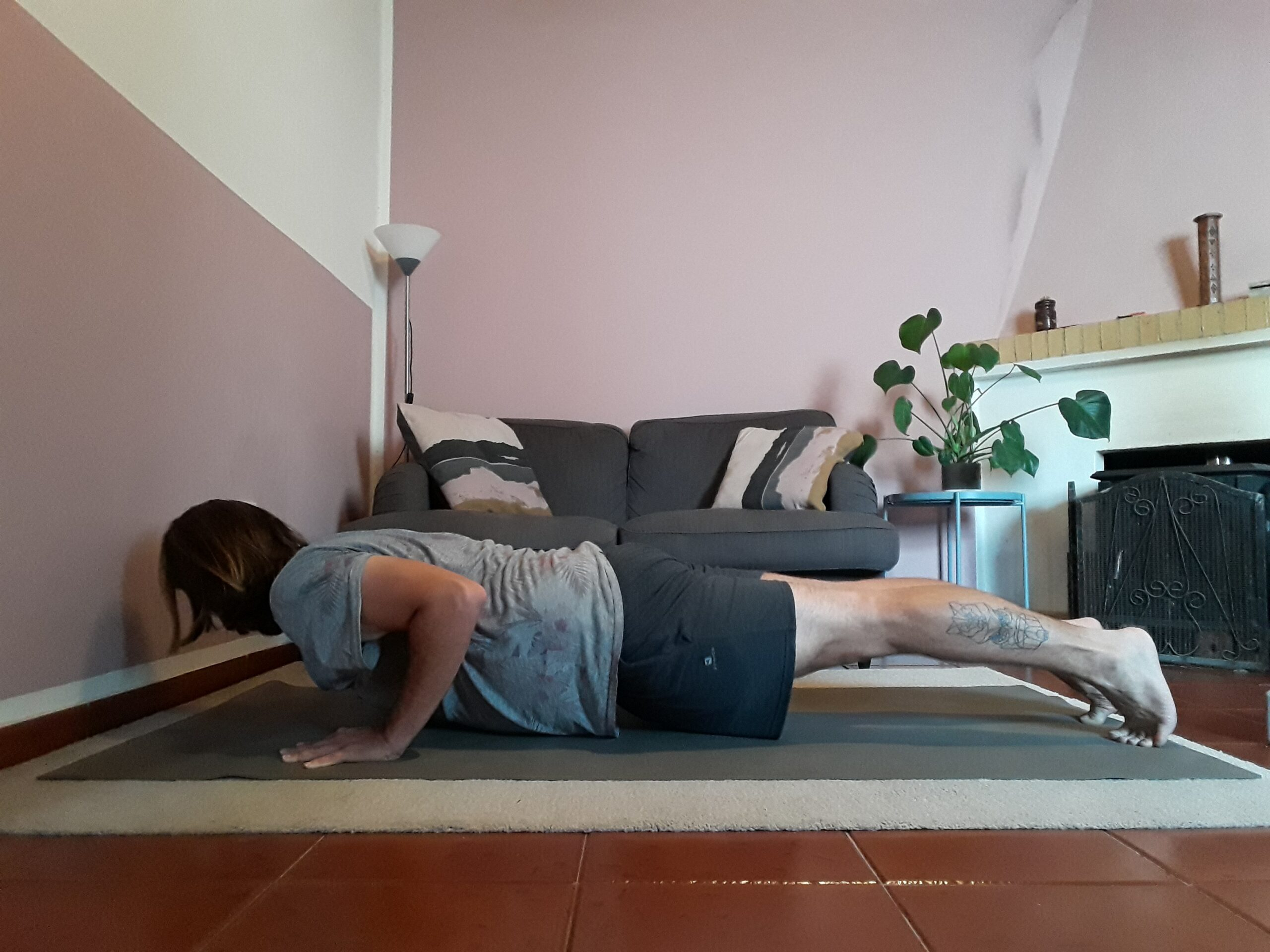 chaturanga as prep for crow pose