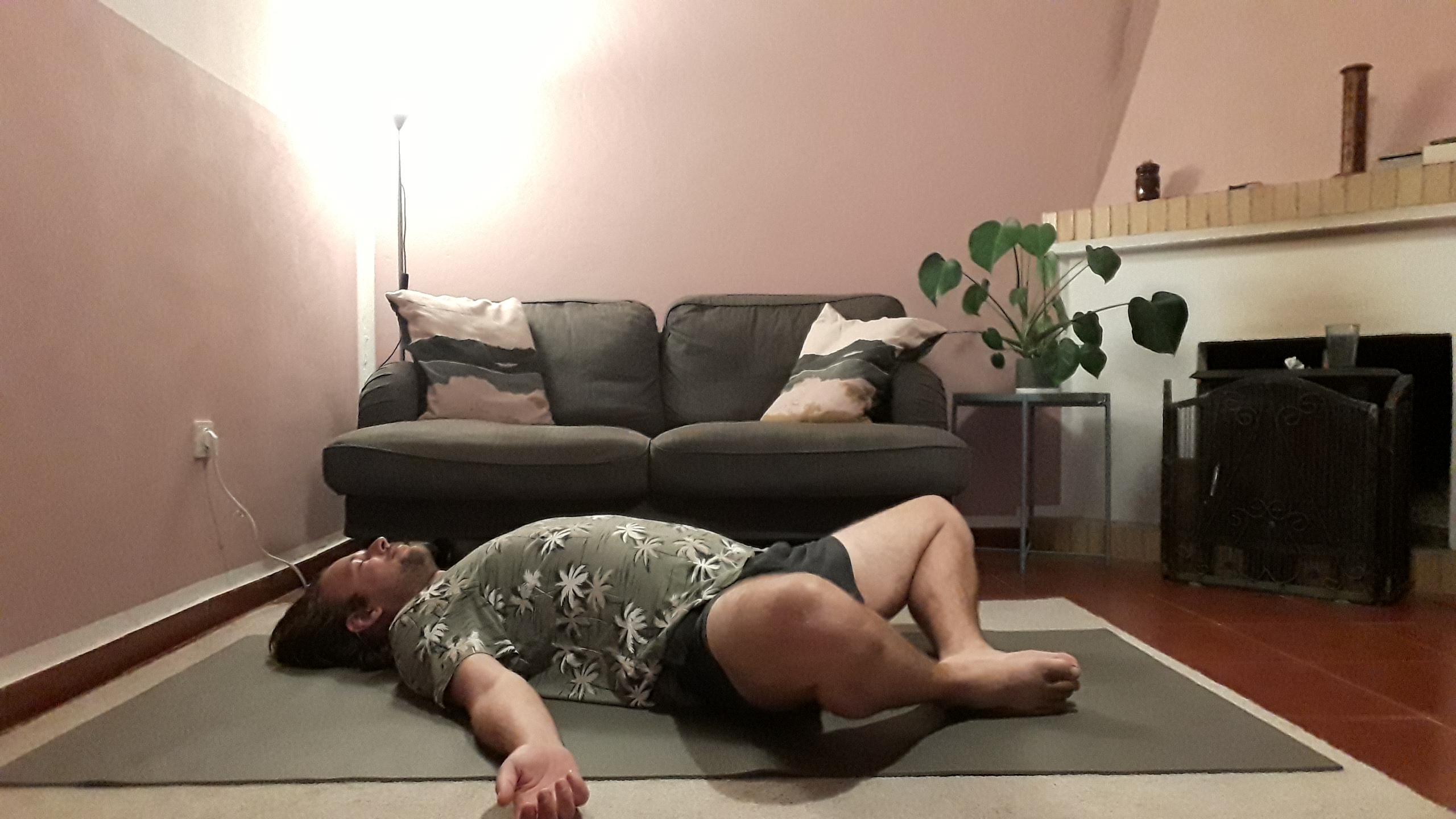 Supta baddha konasana to relax